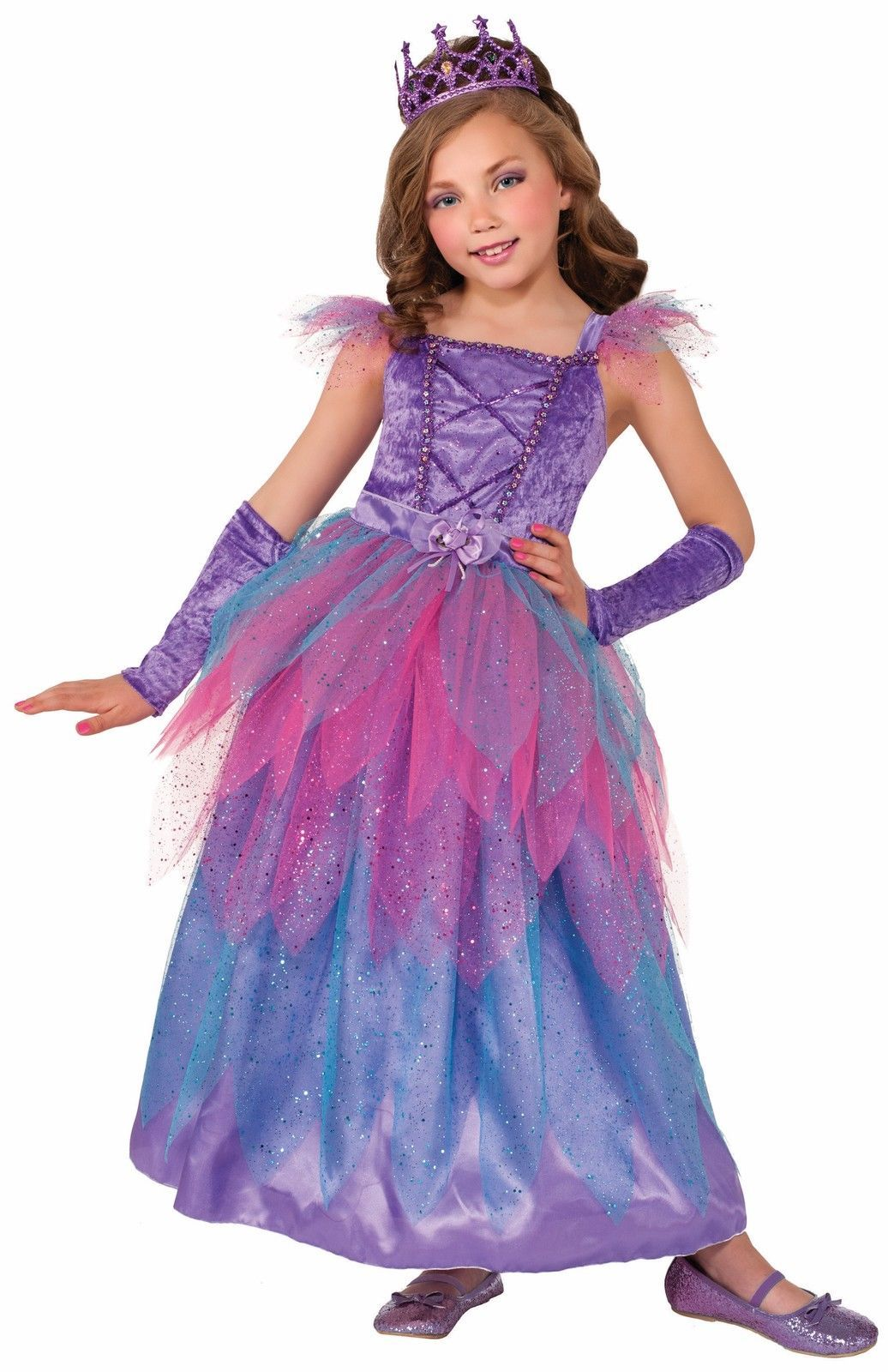 Image 1 of Happily Ever After Royal Purple Fairy Princess Girls Costume w/Glovettes, Forum