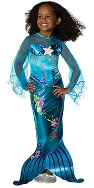 Image 0 of Popular Blue Magical Mermaid Ariel Disney Princess Girl Costume Rubies Polyester