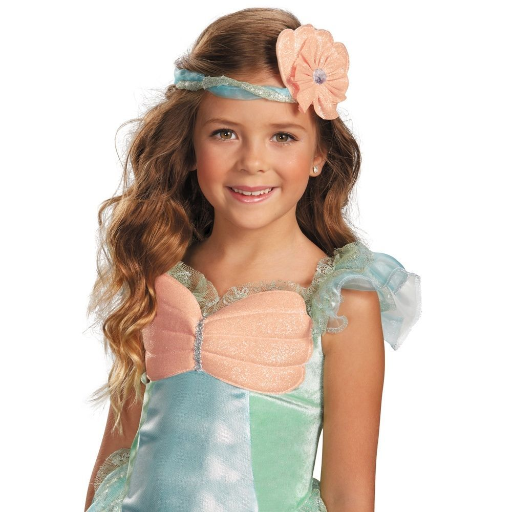 Image 1 of Precious Mystical Mermaid Princess Aqua/Coral Polyester Dress/Headpiece Disguise