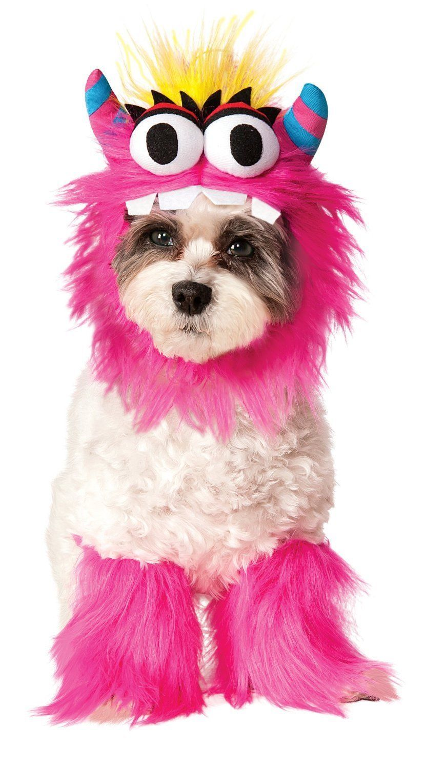 Image 4 of Adorable Pet Dog Costume: Blue Monster 580179 or Pink Monster 580180, Rubies - B