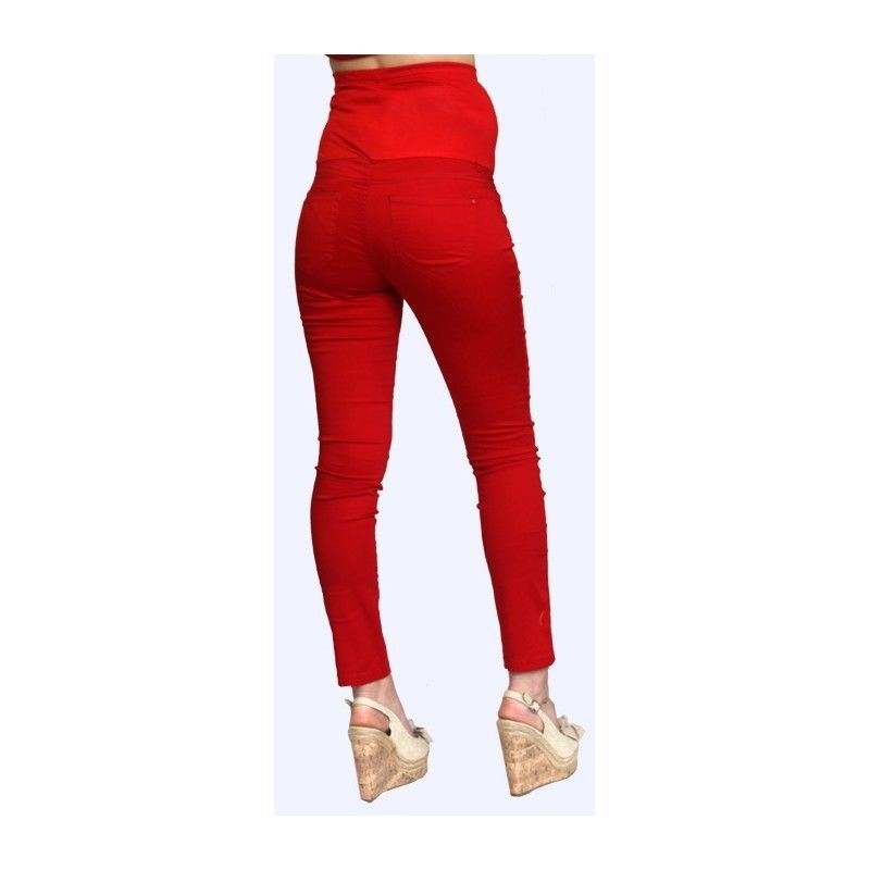 Image 2 of Sexy Fun Rayon Blend Maternity Jeans in Blue or Burgundy Denim S, M, L, XL USA -