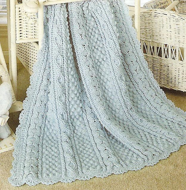 Crochet Aran Baby Blanket Pattern : RARE~ARAN~FISHERMAN BABY AFGHANS CROCHET PATTERNS~HTF ...
