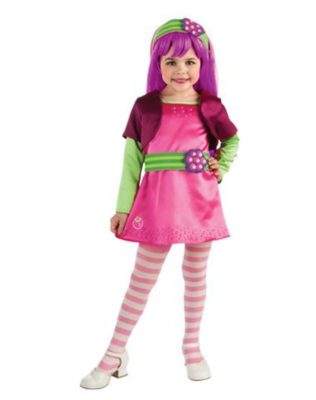 Image 0 of Rubies Deluxe Raspberry Tart Girl's Costume w/Wig, Tights, Headpiece, Belt - Tod