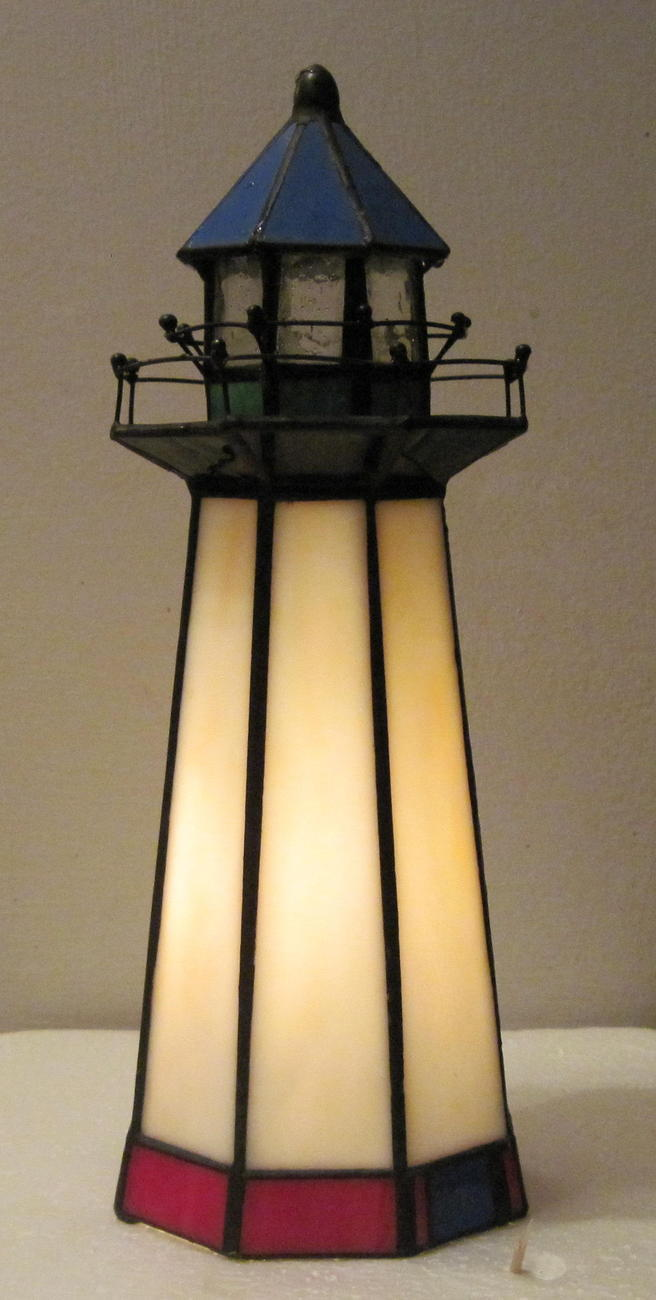 Lighthouse Tiffany Style Accent Lamp By Home Trends