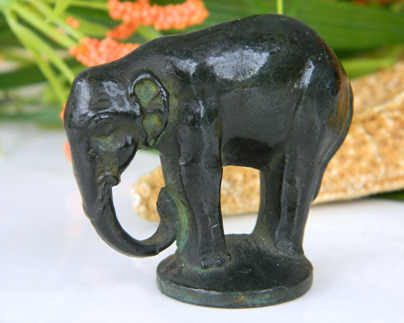 vintage miniature bronze elephant figurine and 17 similar items. Black Bedroom Furniture Sets. Home Design Ideas