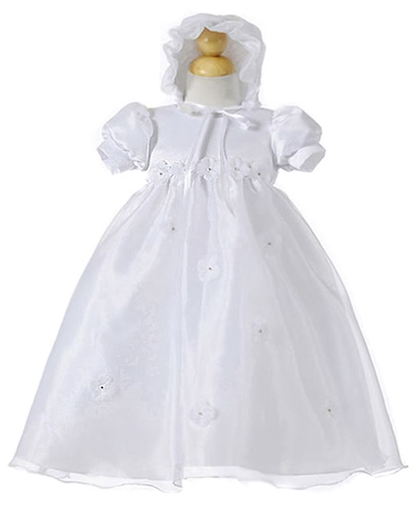 Image 0 of Baby Girl Christening Dressy Holiday Dress w/Daisies Polyester Set Crayon Kids -