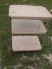 Vintage Metal Cosco Kitchen Utility Cart Tray Table