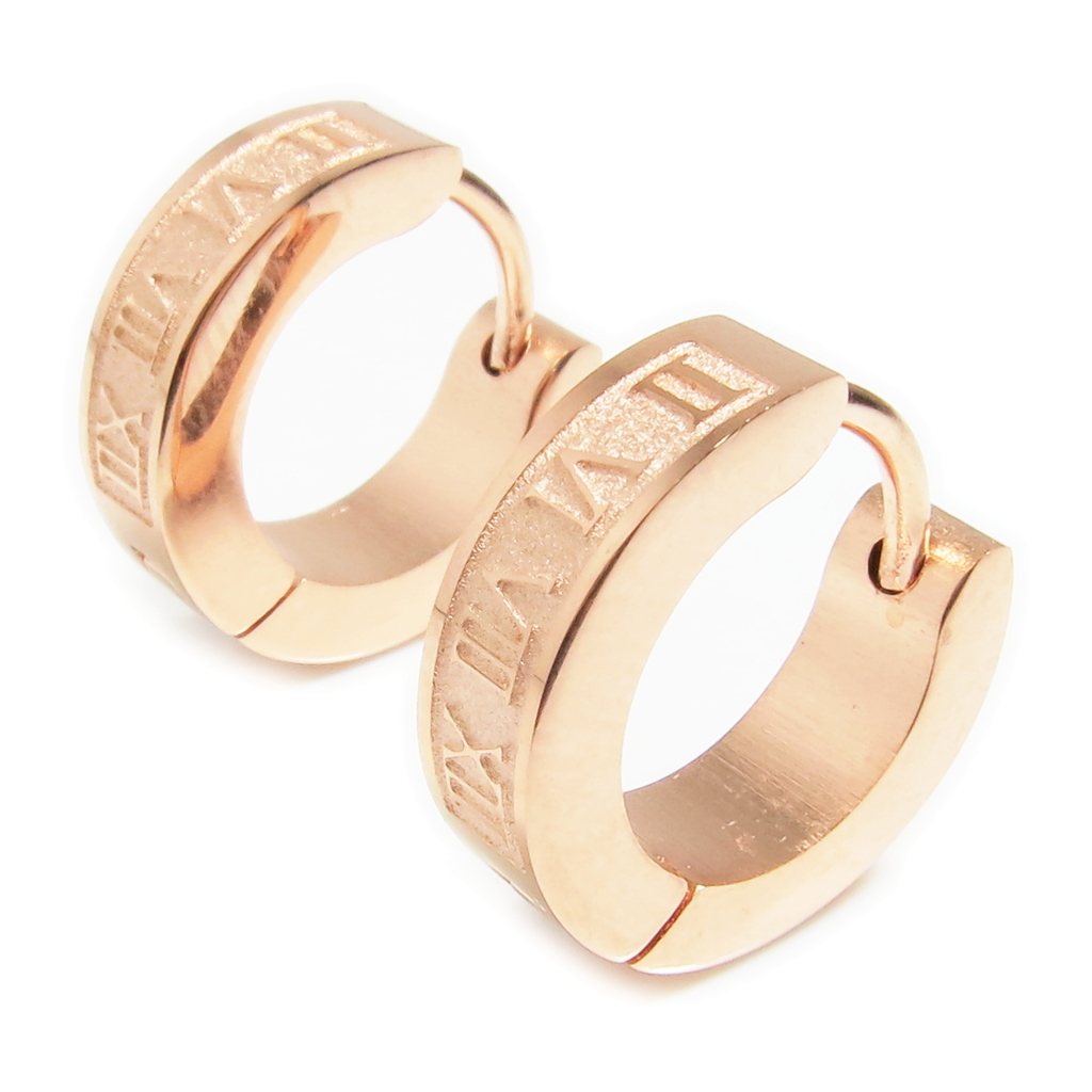 Pair stainless steel rose gold color roman and 50 similar for Do pawn shops buy stainless steel jewelry