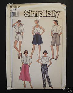 Simplicity 8687 Misses Casual Skirt Shorts Pants Petite 6-8 Easy to Sew Pattern Simplicity New Look