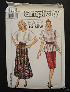 Simplicity 9148 Easy to Sew 1 or 2 pc Dress and Cummerbund 6 - 12 Kimono Sleeved Simplicity New Look
