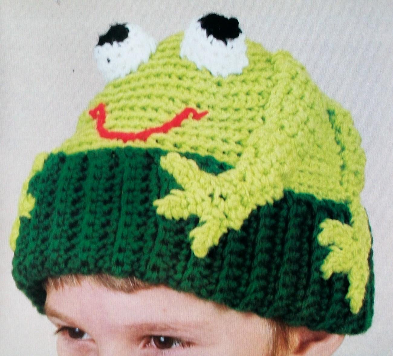 Frog Hat, Animal Cap Toboggan, Kids Adults, CUTE Trendy, Crochet Pattern