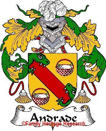 Andrade Spanish Coat Of Arms Print Andrade Family Crest