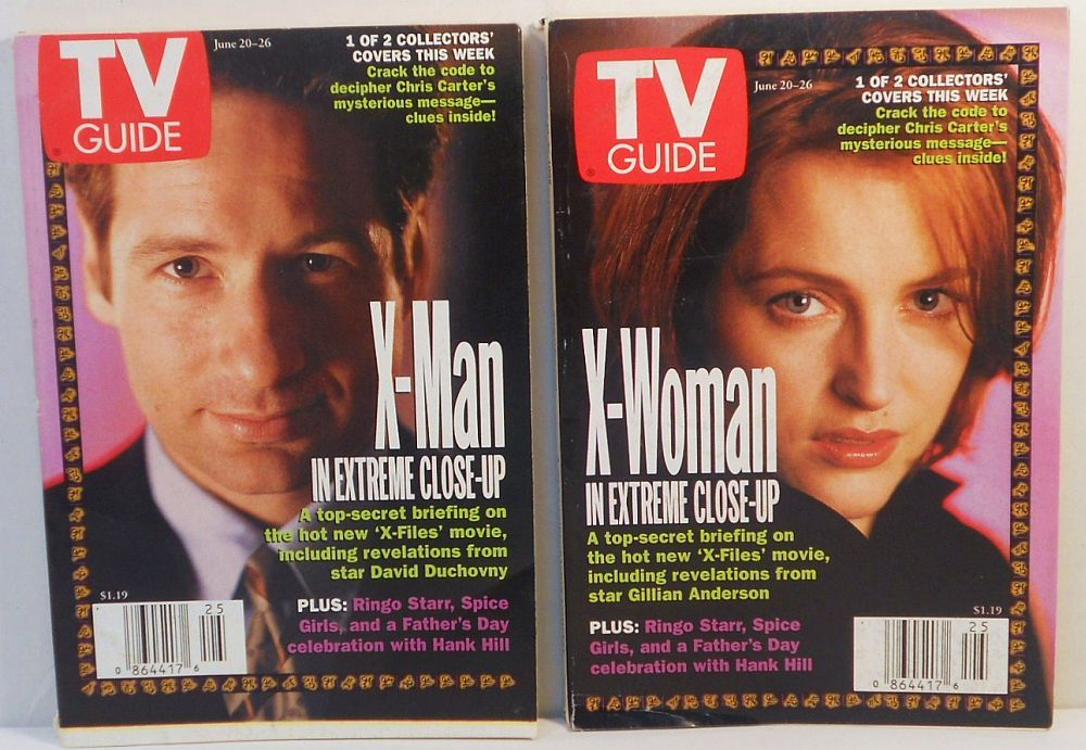 Image 0 of TV Guide X-Files X-Man X-Woman collectors covers 1998