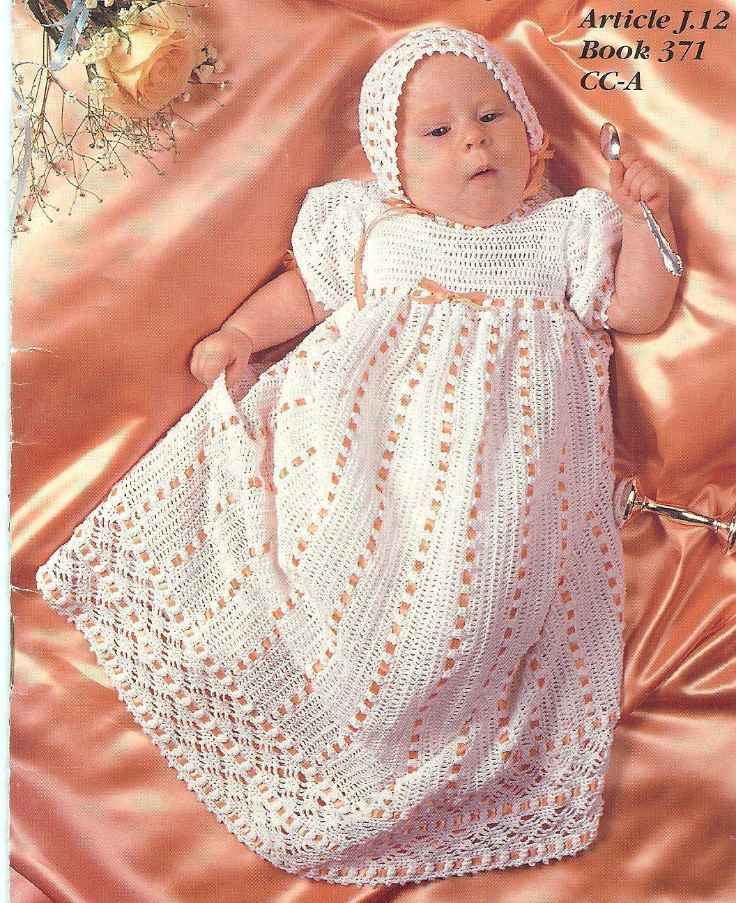Free Crochet Pattern Baby Cradle Purse : HEIRLOOM BABY CHRISTENING SET CROCHET PATTERNS~RARE~HTF ...