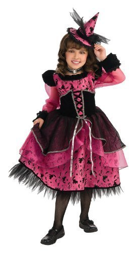 Image 0 of Rubie's Deluxe Victorian Witch Costume - Fuchsia Pink, Black