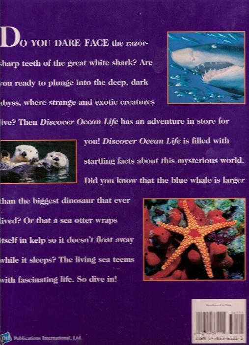 Image 1 of Discover Ocean Life by Alice Jablonsky Hb 2008 Children Science