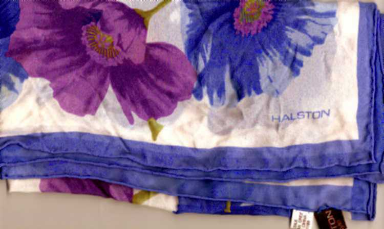 Halston_periwinkle_orchid_silk_scarf_1
