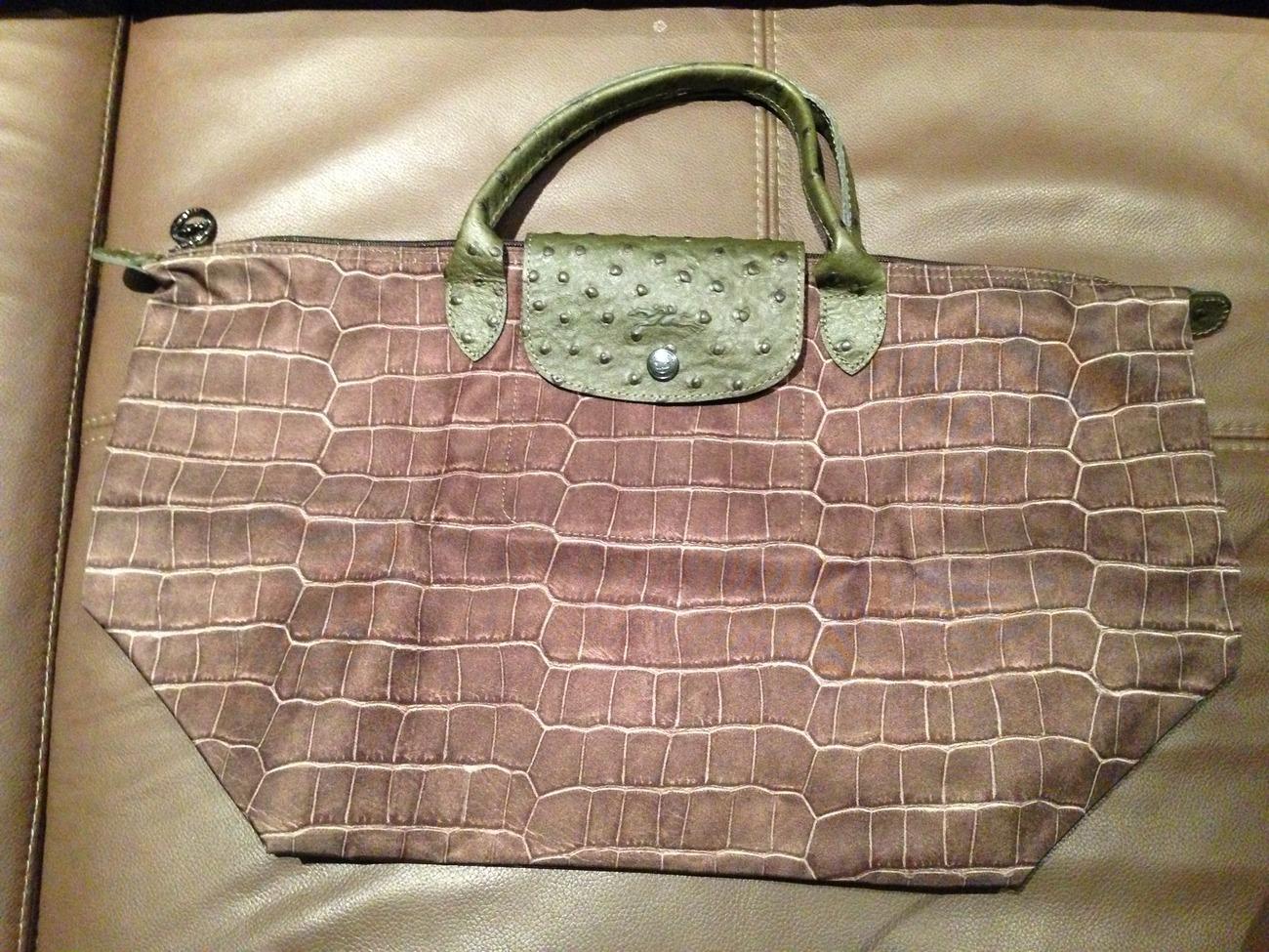 Longchamp bag le pliage john lewis : Longchamp le pliage medium autruche shoulder bag