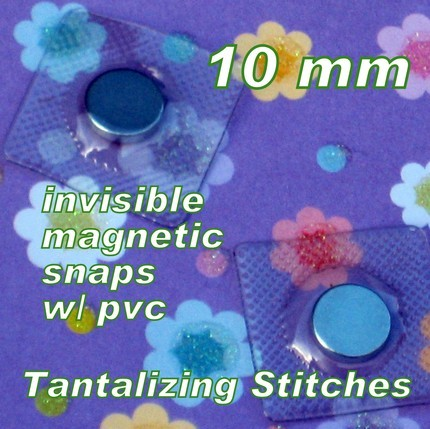 600 Hidden Sew In Magnetic Snaps (10 MM) with PVC Extra Smal