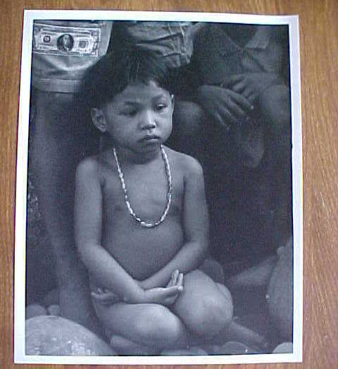 Real Photo Borneo Island Natives Naked Child Art