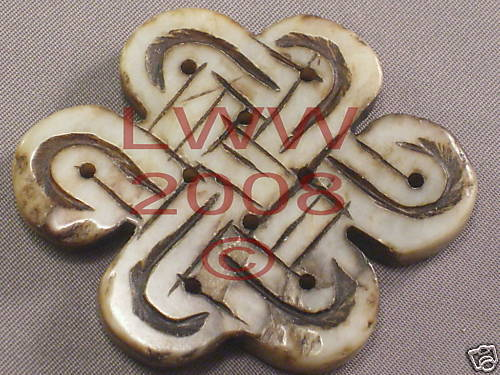 One Large Stone Carved Celtic Knot Pendant Necklace NEW Bonanza