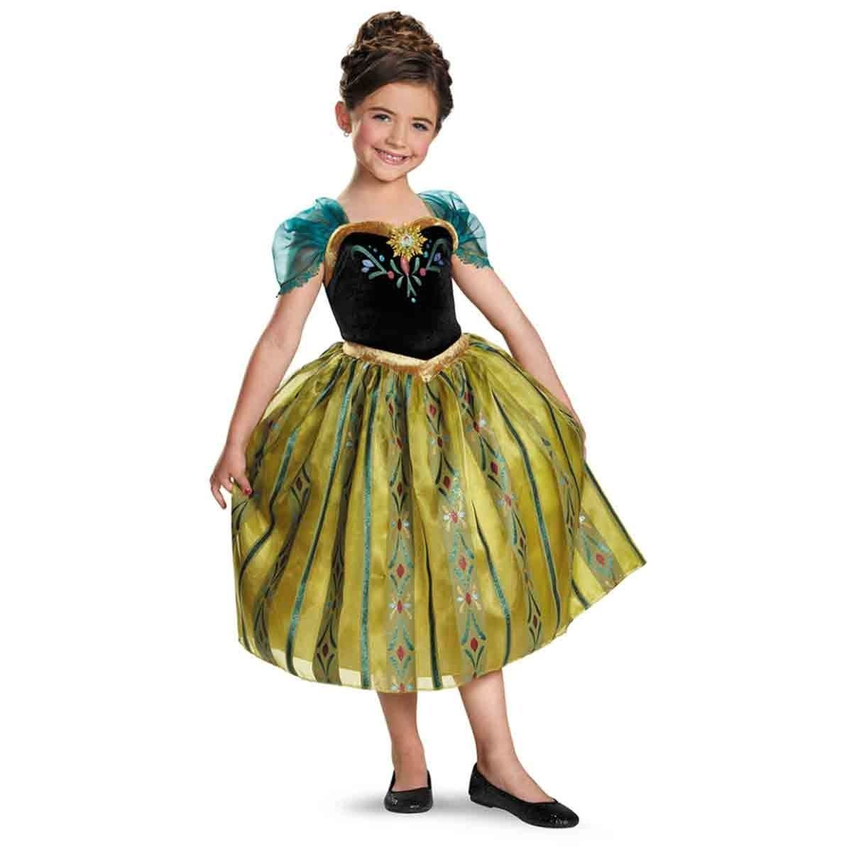 Frozen Princess Anna Deluxe Coronation Gown Child Costume Disguise 76909 - Gold