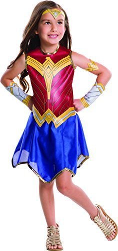 Image 0 of Girls Wonder Woman Movie Costume, Rubies 640066