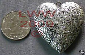 New Large Metal Heart Necklace Locket Pendant Charm Bonanza