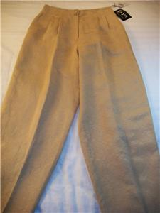 WOMEN VIA SETA SANDRA HARRIS GOLD DRESS PANTS NWT SZ12 Bonanza