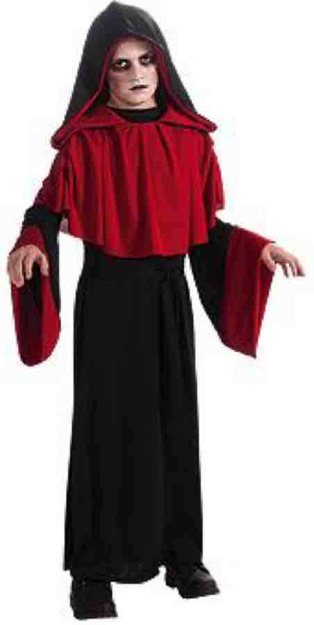Image 1 of Deluxe Gothic Overlord Boys Red Black Robe Costume, Rubies 881449 - Black - Poly