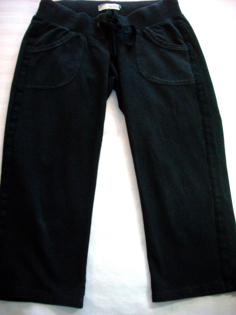 WOMEN OLD NAVY MATERNITY BLACK CAPRIS XS EXTRA SMALL Bonanza