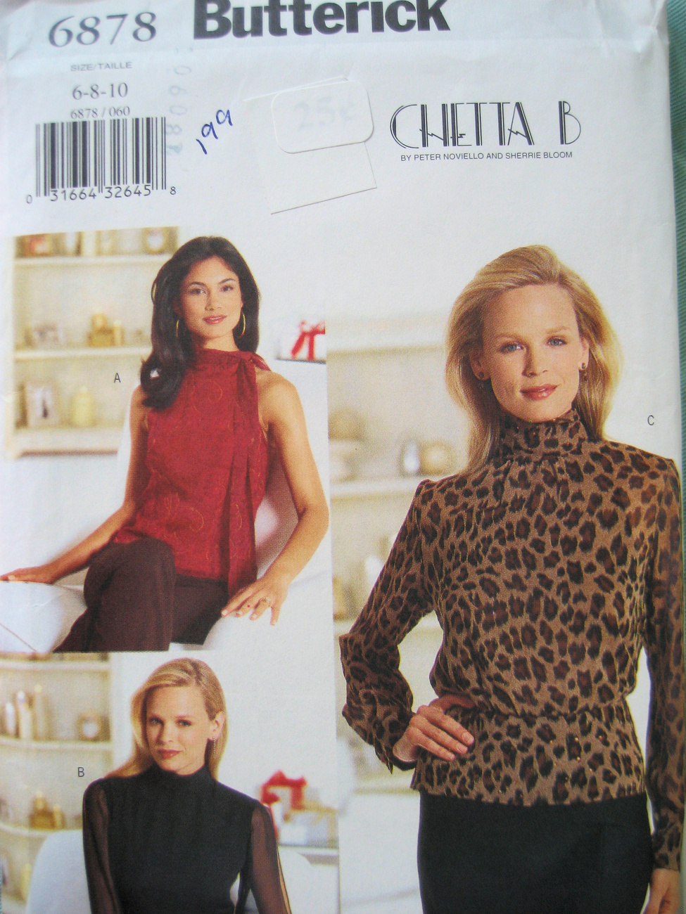 Butterick 6878 New Sewing Womans Size 6 to10 Jersy Blouse Pattern Butterick