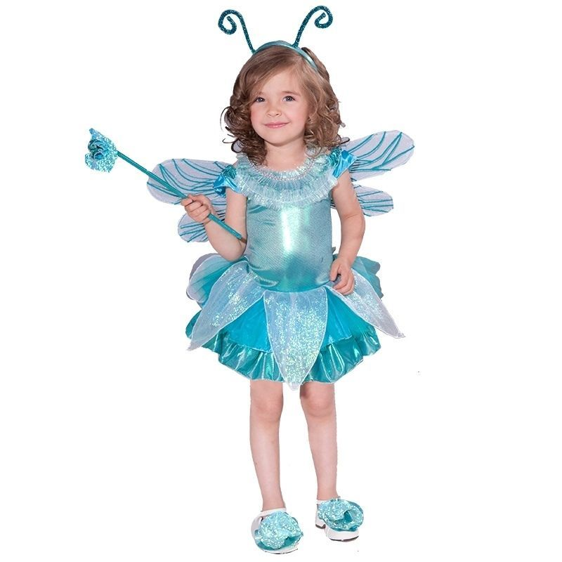 Image 0 of Precious Toddler Girl's Blue Dragonfly Tutu Dress Complete Costume w/Wings, Wand
