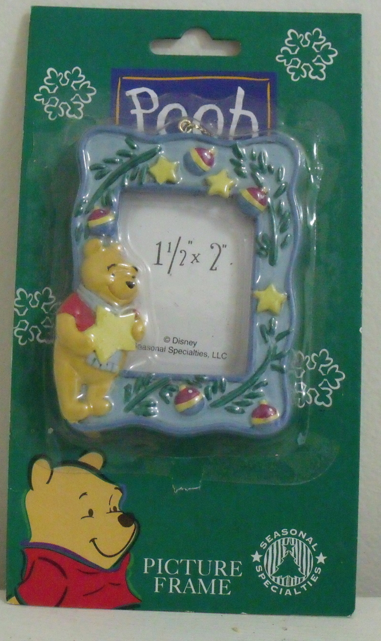 New Disney Winnie the Pooh Picture Frame Christmas Ornament Disney
