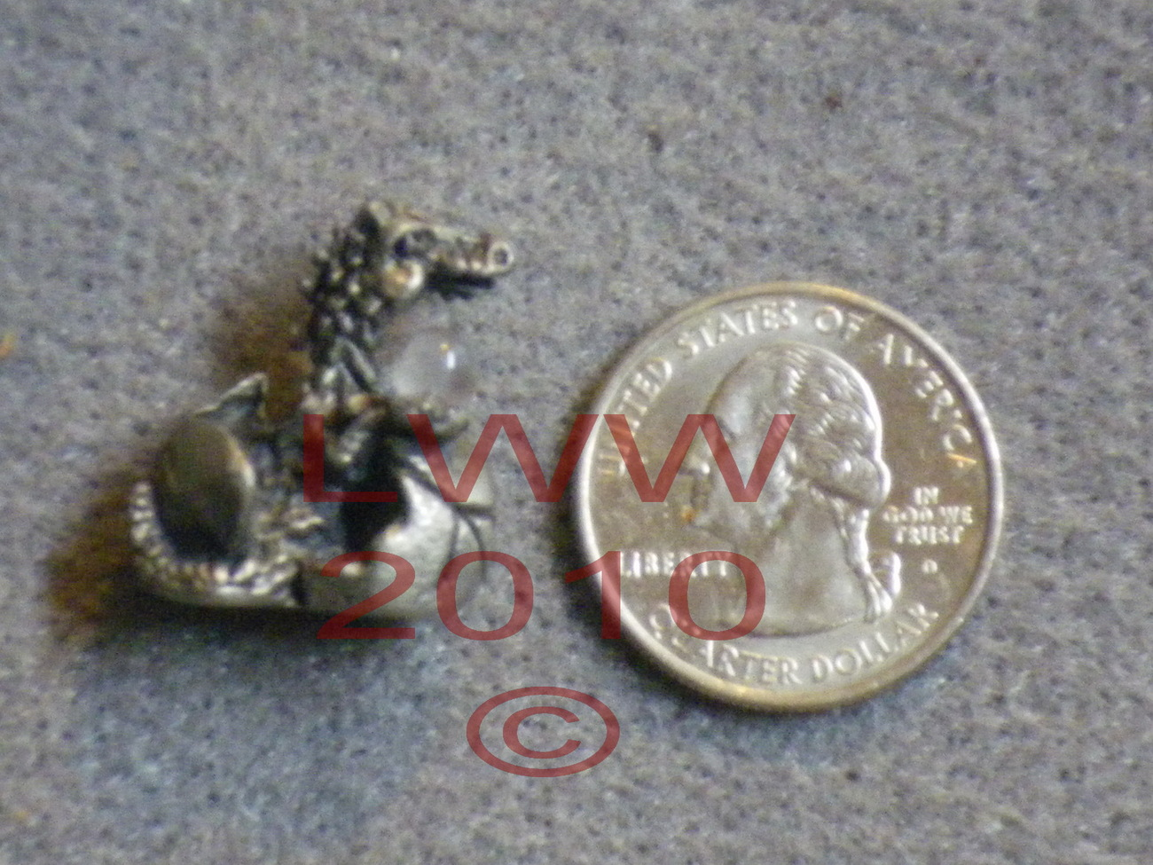 TINY Pewter Dragon in Egg Hatchling Figure Figurine NEW Bonanza