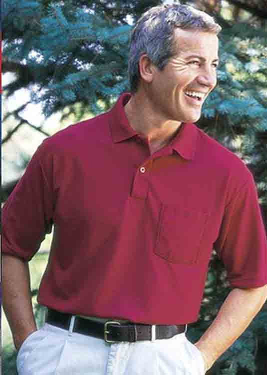 Image 2 of Pocket Polo Golf Shirt Gildan 8900, Adult, Hot Sports Colors, Cotton Blend - Bla