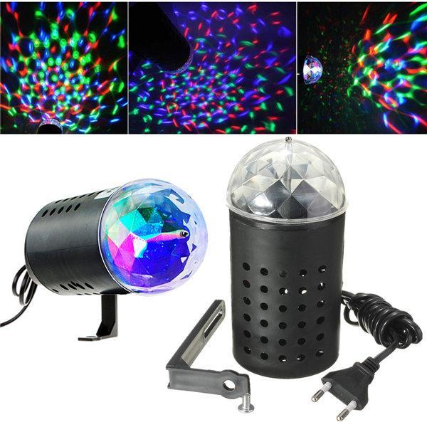 3W RGB LED Stage Light Rotating Crystal Magic Ball Laser Stage Lighting Effect P - Default Title