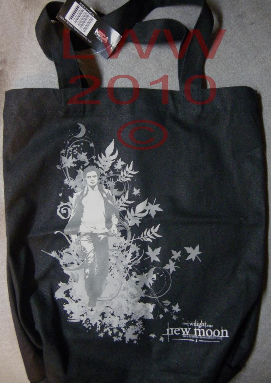 Edward Kicking Leaves Twilight New Moon Canvas Tote Bag Bonanza