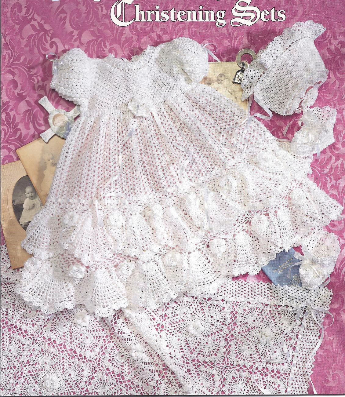 Christening Dress Knitting Pattern Free: Foliage lace christening ...