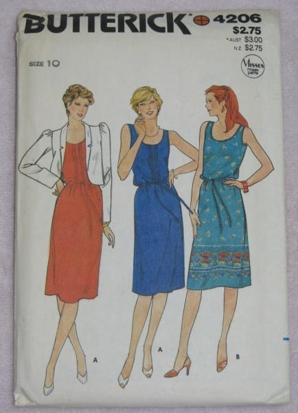 Butterick 4206 Sewing Pattern Misses 10 Dress Jacket  Butterick
