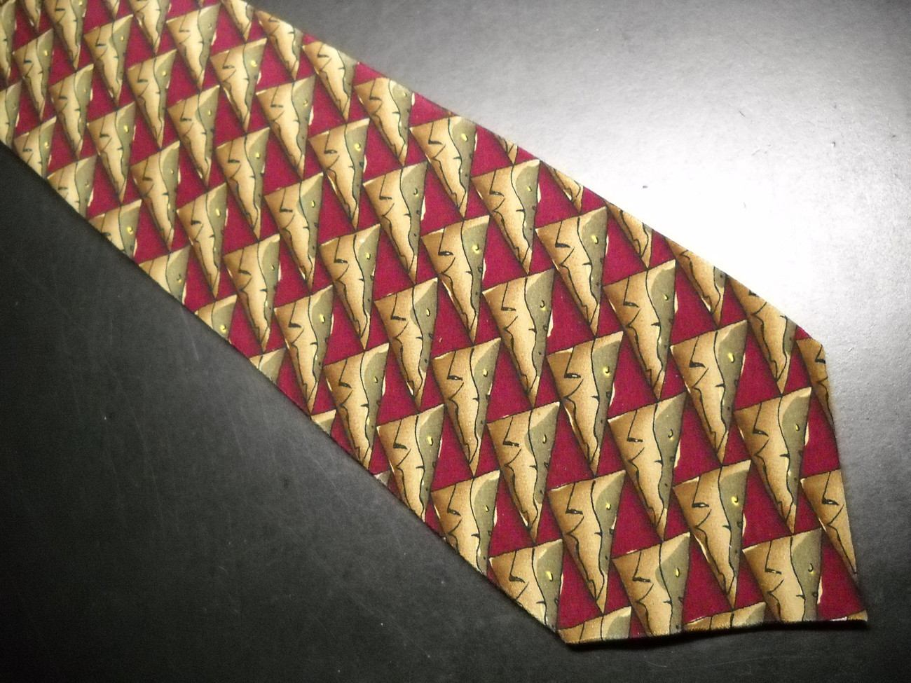 J Garcia Neck Tie Collection 15 Zoot Subdued Rusts Browns and Greens Silk Jerry Garcia