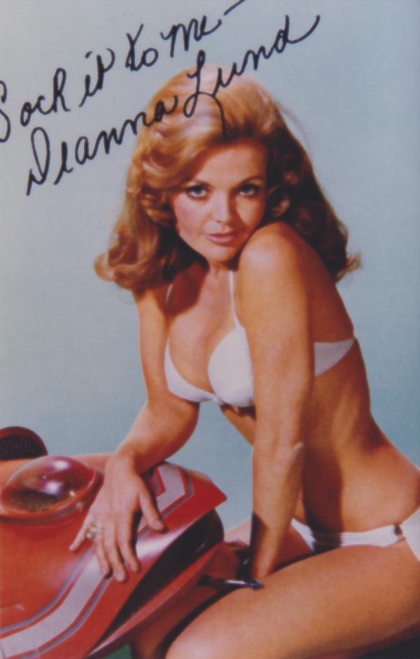 Deanna Lund White Bikini signed 4x6 Photo 4686 Bonanza