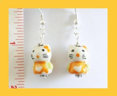 My Little Kitty Porcelain Earrings