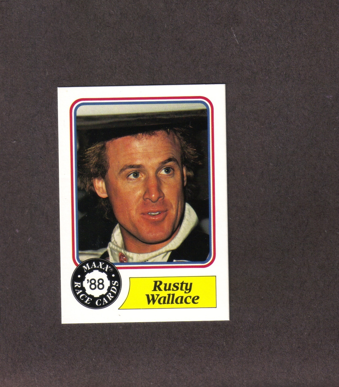1988 Maxx # 14 Rusty Wallace Rookie Card