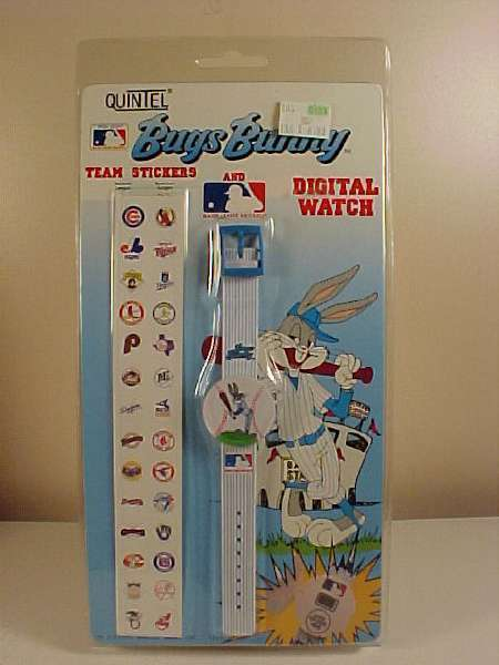 *BUGS BUNNY*MLB*BASEBALL*WATCH*STICKERS*NEW IN PACKAGE* Bonanza