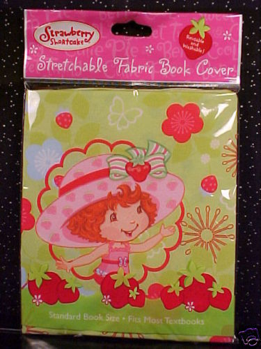Fabric Book Covers Uk : Strawberry shortcake stretchable fabric book cover nip