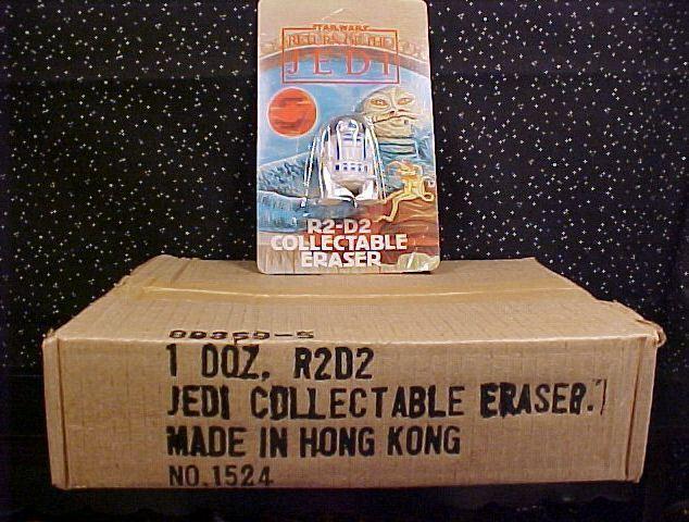 *STAR WARS*ROT JEDI*R2-D2 ERASERS*FULL BOX*ONE DOZEN* Bonanza