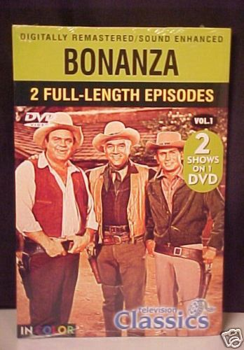 *TV CLASSICS*BONANZA*2-FULL LENGTH EPISODES*DVD*NEW* Bonanza