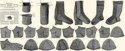 Victorian Stocking Book Knitting Sock Patterns 1910 4 Bonanza