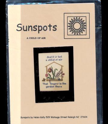 'A Child of Air' Sunspots Cross Stitch Pattern - Floral Bonanza